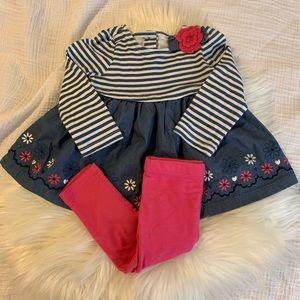 Baby Girl Long Sleeve Set NWOT